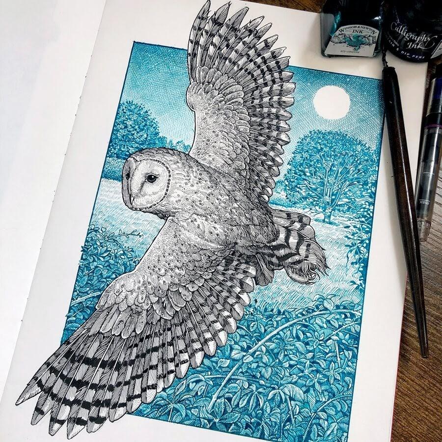 05-Owl-in-flight-Philip-Harris-www-designstack-co