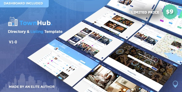 Townhub - Directory Listing Template Free Download Nulled