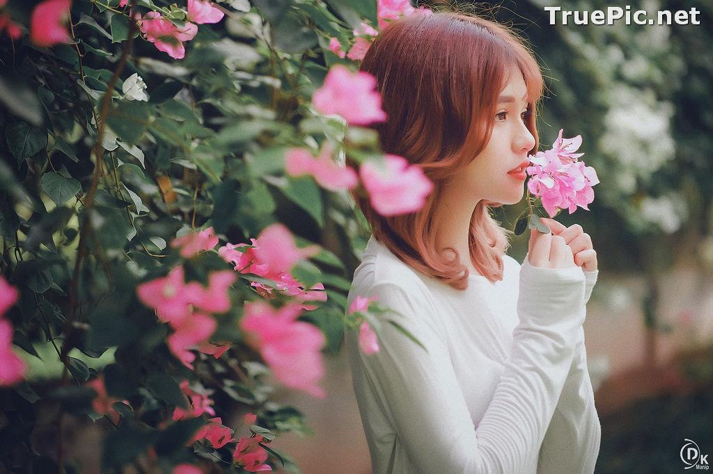 Image Vietnamese Beautiful Model - Bougainvillea Flowering Season - TruePic.net - Picture-14
