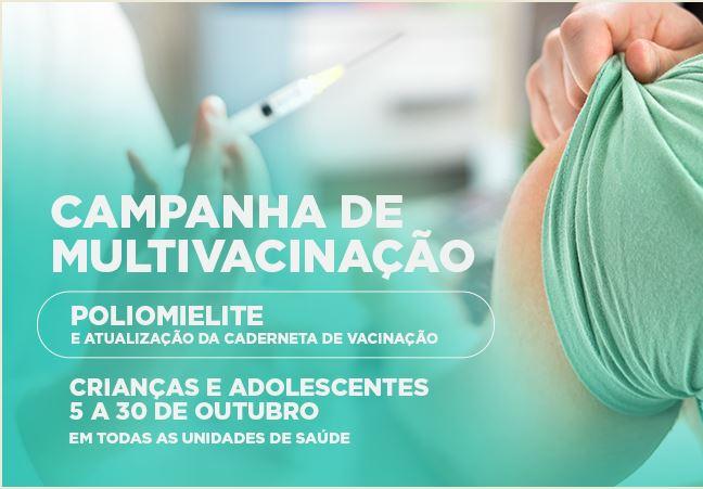 Cajati tem Campanha de Vacinação contra a Poliomielite e atualização da caderneta