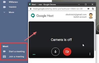 Google meet toplantı başlatma
