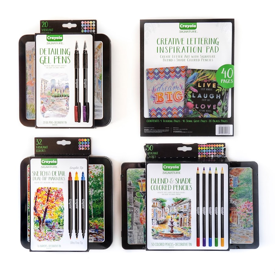 Review: Crayola Signature Markers, Colored Pencils, Gel Pens and ...
