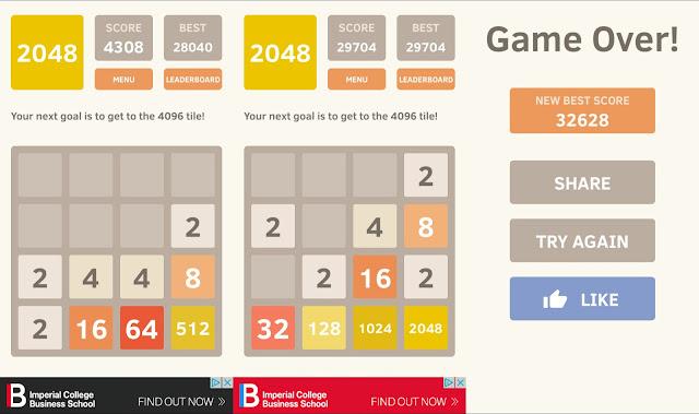2048 Phone Game