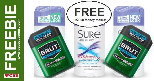 FREE Sure or Brut Deodorant CVS Deal 9-29-10-5