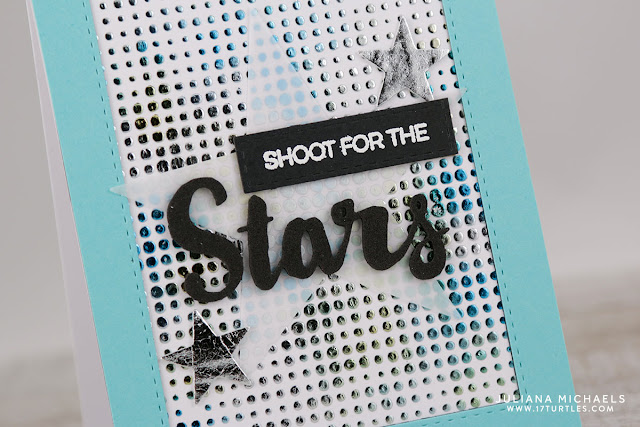Shoot For The Stars Card by Juliana Michaels featuring Therm O Web Deco Foil and Transfer Gel