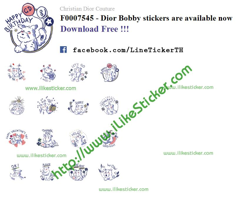 Dior Bobby stickers are available now