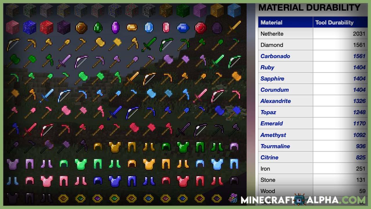 Minecraft More Gems Mod