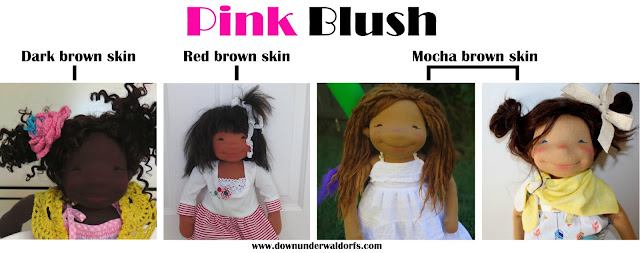 doll making tips, doll making, doll blush, applying doll blush, how to apply doll blush, blush for a cloth dolls, blushing Waldorf doll, Down Under Waldorfs doll making tips