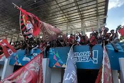 Pertandingan Cabor Sepakbola PON XX di Lapangan Mahacanra Waena Terasa Seperti Liga 1