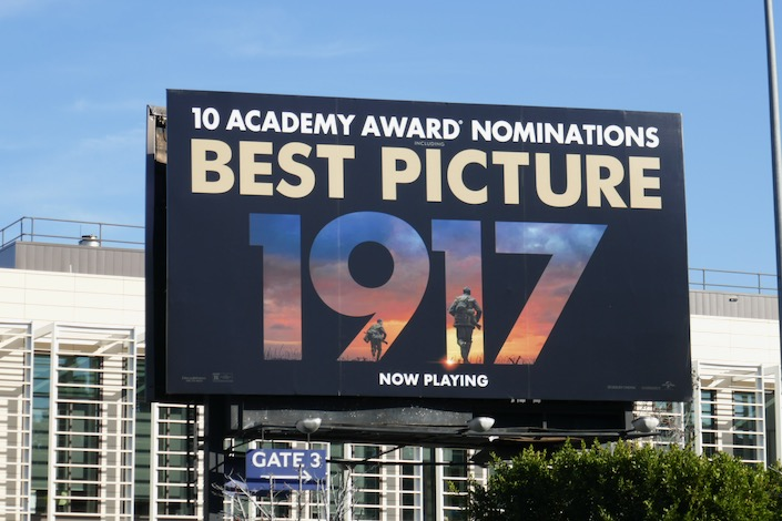 1917 Best Picture Oscar nominee billboard
