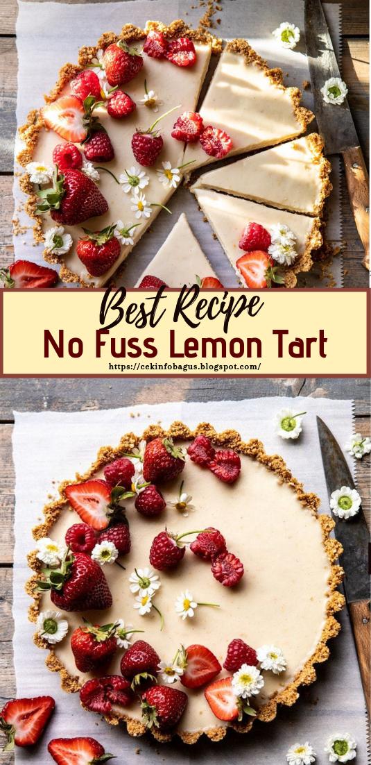 No Fuss Lemon Tart #desserts #cakerecipe #chocolate #fingerfood #easy