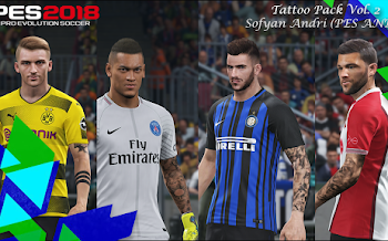 Tattoo Pack V2 | PES2018 | Released [17.03.2018]