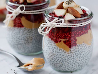 CHIA BERRY CUPS with PEANUTBUTTER 🍓