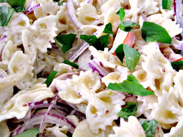 Honey Mustard Chicken Pasta Salad