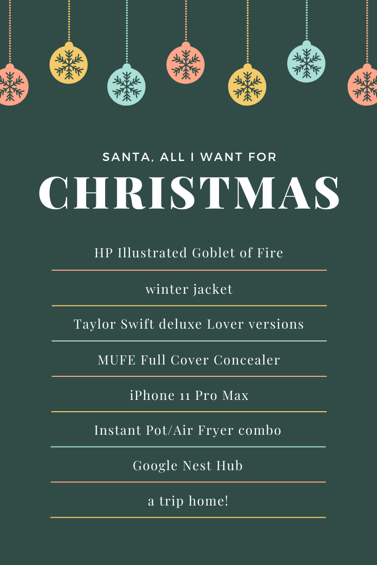 bblogger, bbloggers, bbloggersca, bbloggerca, canadian beauty blogger, southern blog, christmas list, 2019, christmas, makeup, going home, google nest hub, taylor swift, lover, iphone 11 pro max, list