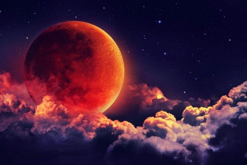Ilustrasi Bulan Purnama