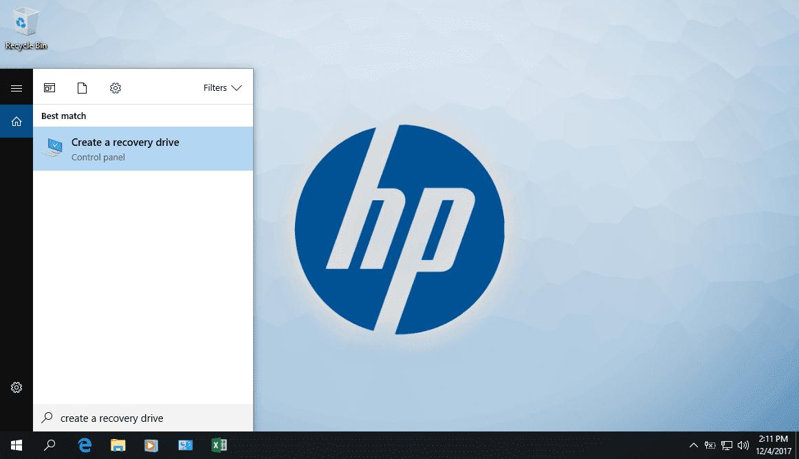Hướng dẫn tạo thiết bị phục hồi máy tính trong Windows 10