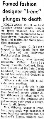 Irene Lentz Suicide