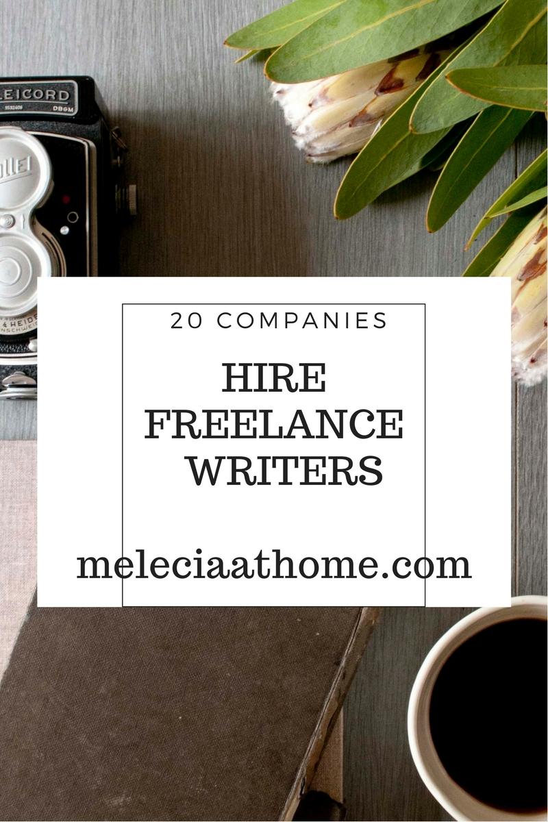 Companies hiring freelance writers