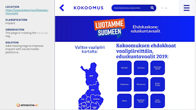 Kokoomus were missing <title> on several pages