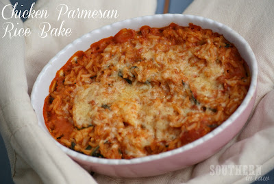 Chicken Parmesan Rice Casserole - Healthy, Gluten Free, Low Fat Recipe
