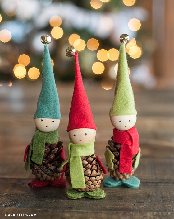 Pine Cone Elf Christmas Crafts
