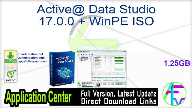 Active@ Data Studio 17.0.0 + WinPE ISO