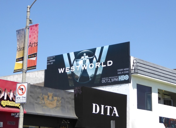 Westworld series premiere billboard