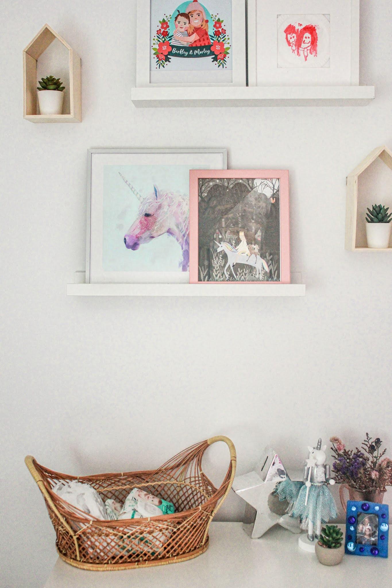 Unicorn Wall Art for Girls Bedroom