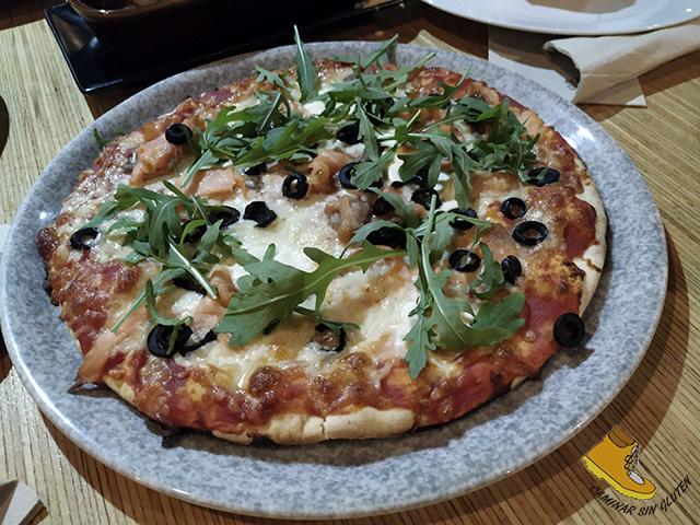 Pizza sin gluten en Patanel Carabanchel