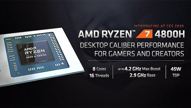 ESPECIFICACIONES TÉCNICAS AMD RYZEN 7 4800H