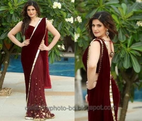 Beautiful Bollywood Actress Zarine Khan Looking Hot And Sexy In Saree