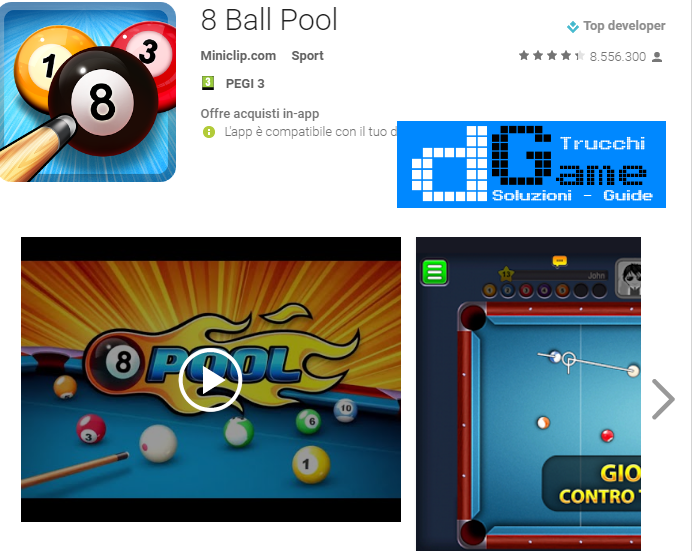Trucchi 8 Ball Pool Mod Apk Android v3.7.3