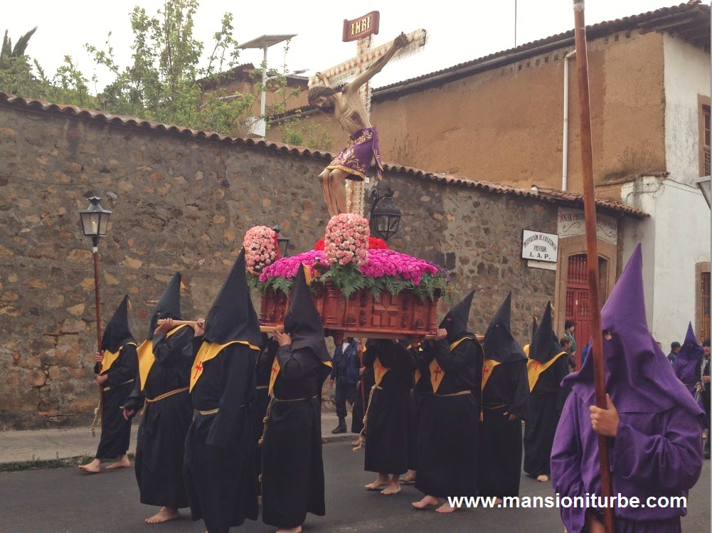 Procession in Silence in Patzcuaro during the Holy Week