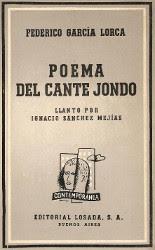 Portada del libro poema del cante jondo para descargar en pdf gratis
