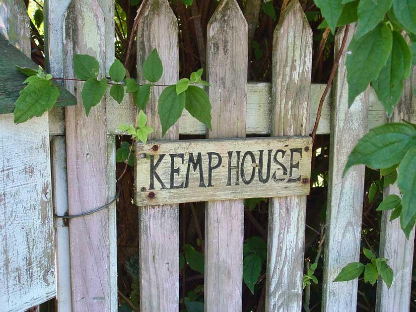Kemp House sign.