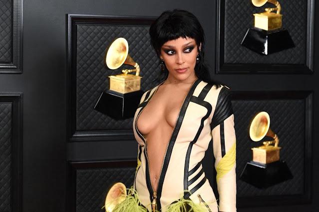 Doja Cat at 2021 Grammy Awards in Los Angeles