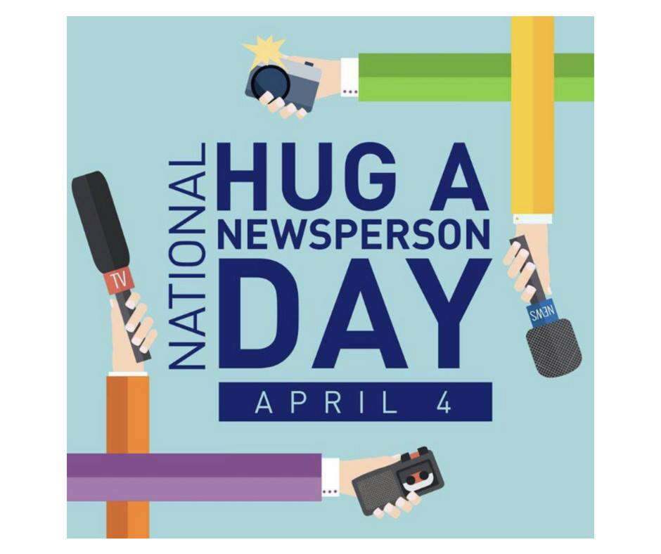 National Hug a Newsperson Day Wishes Awesome Picture