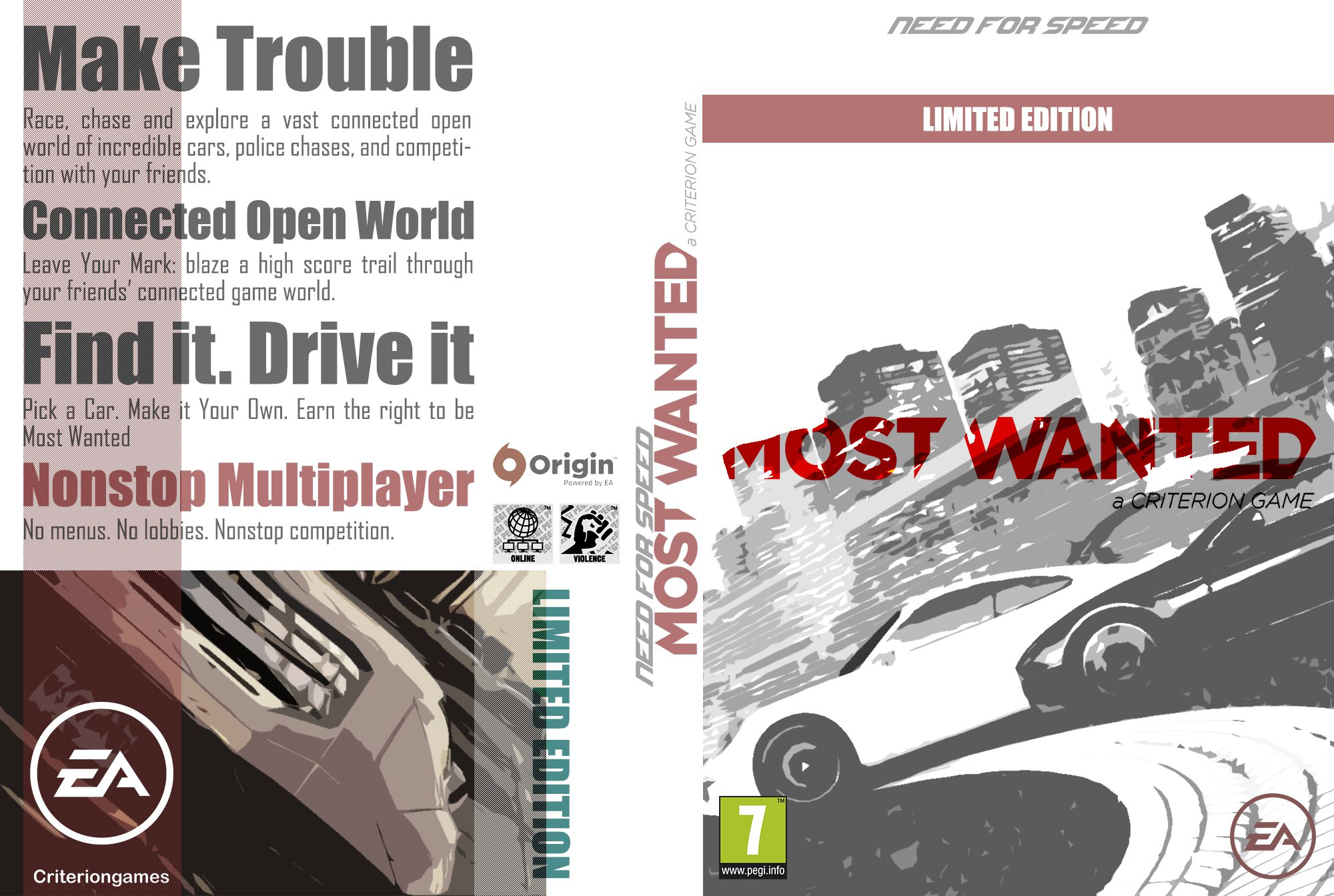 Capa Need For Speed Most Wanted Limited Edition PC