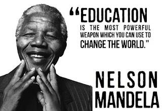 La educación es el arma más poderosa que puedes usar para cambiar el mundo -Nelson Mandela