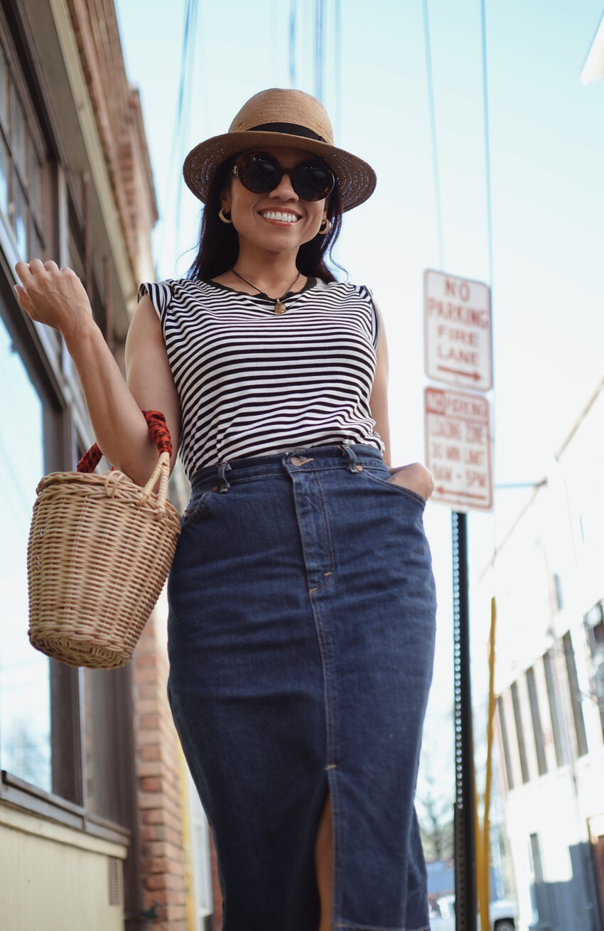 Basket bag street style