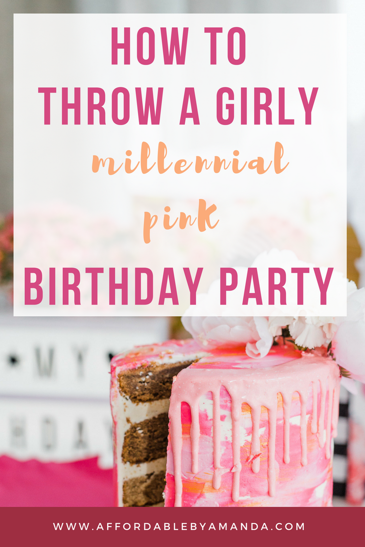 plan a millennial pink birthday bash this year