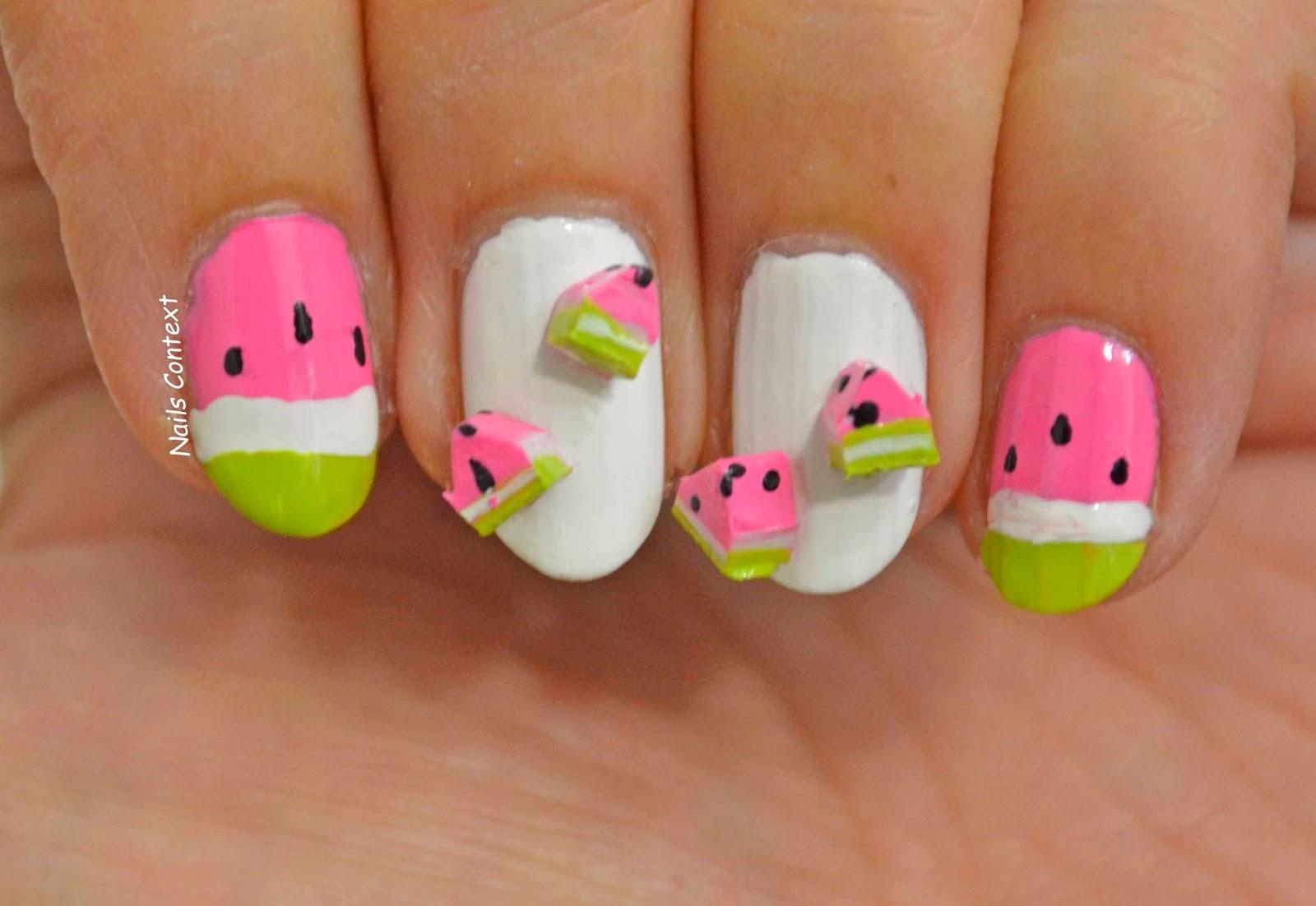 Nails Context: Watermelon Nails