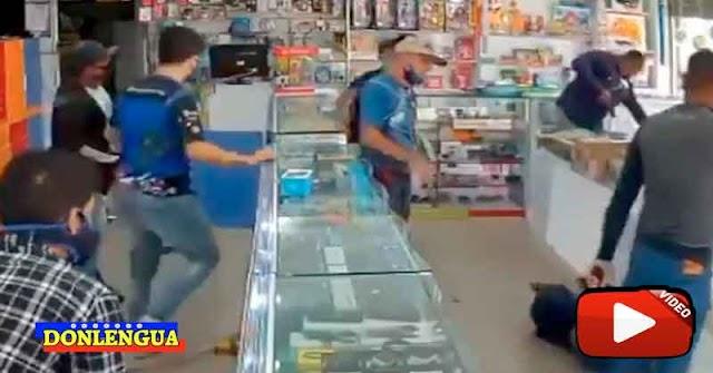 CÁMARA DE VIGILANCIA   Así fue un atraco a un local en Puerto la Cruz y la posterior captura