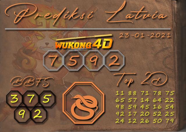 PREDIKSI TOGEL LATVIA WUKONG4D 23 JANUARY 2020