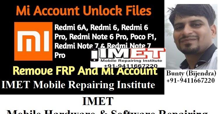 Mi Account Unlock Files: Redmi 6A, Redmi 6, Redmi 6 Pro