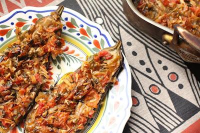 aubergines farcies végé façon turque