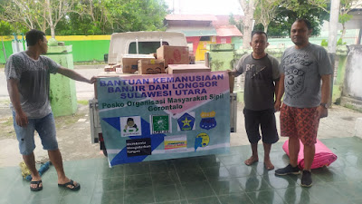 OMS Gorontalo Sodor Bantuan Kemanusiaan Korban Bencana Manado