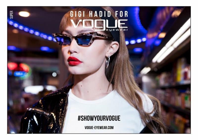 Gigi Hadid x Vogue Eyewear Spring 2019 Campaign