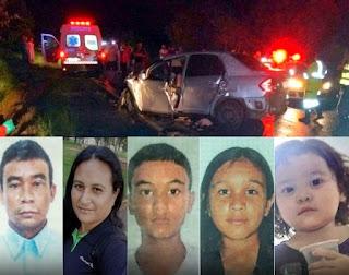 TRAGÉDIA: Seis pessoas de uma família de Pirapemas/MA morrem em acidente em SP